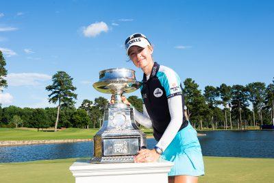 「全米女子プロ」でメジャー初優勝を遂げたネリー・コルダ。